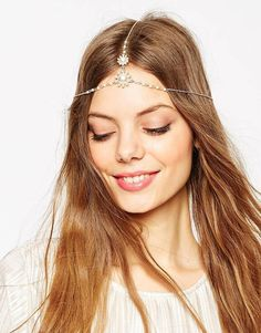 Image 1 of ASOS Pearl Chain Hair Crown