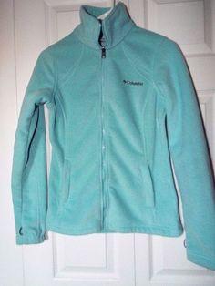 Columbia interchange able fleece Jacket womens size S, EUC, Baby Blue #Columbia #FleeceJacket #Outdoor