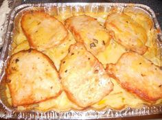 Pork Chop Potato Casserole I have been making this recipe for more than 20 years and it is delicious and easy and a great recipe to serve to company. Just add a vegetable and some bread and you have a wonderful meal. Pork Chop Casserole, Potatoe Casserole Recipes, Casserole Dishes, Breakfast Casserole, Company Casserole Recipe, Pork Chop Recipes, Meat Recipes, Cooking Recipes, Crock Pot Recipes