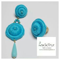 Earring and ring, Tricot