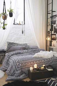 Dreamy Boho Bedroom Daily Dream Decor Boho Bedrooms And Room throughout measurements 975 X 1463 Bohemian Bedroom Decorating - An individual may also purchase exclusive and one of a kind […] Magical Bedroom, Dream Bedroom, Home Bedroom, Bedroom Romantic, Bedroom Small, Warm Bedroom, Bedroom Inspo, Bedroom Decor Boho, Bedroom Black