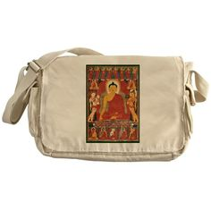 Vintage Buddha Art Messenger Bag on CafePress.com
