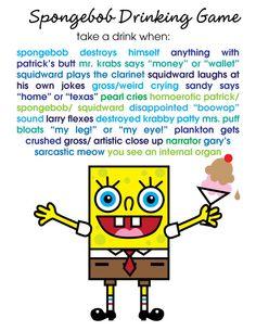 Burping Cake: The Spongebob Drinking Game