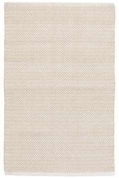 Dash & Albert - Herringbone Linen Indoor/Outdoor Rug (For rec room)