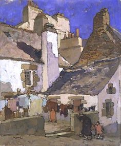 """""""Fishermen's Houses in Concarneau""""                                                                 by Théophile Deyrolle"""