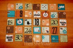 Then she made...: Cookie Sheet Calendars - part 2