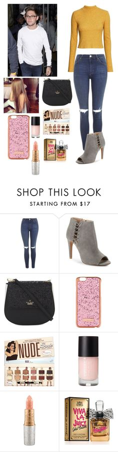 """Dinner with Niall"" by joelene-garcia ❤ liked on Polyvore featuring Topshop, French Connection, Kate Spade, Skinnydip, Mariah Carey and Juicy Couture"