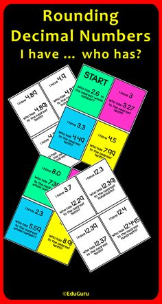 Rounding Decimals I have ... who has Game will be a WINNER in your cooperative learning classroom. Students LOVE it!
