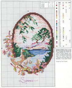 cross stitch - Summer chart