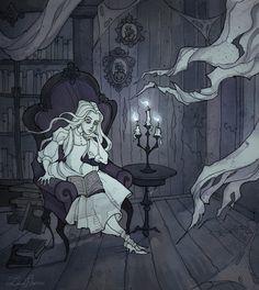 Reading+Ghost+by+IrenHorrors.deviantart.com+on+@DeviantArt