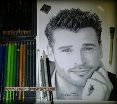 Normaearts portraitdrawing Tom Welling WIP3 by NormaeJean.deviantart.com on @DeviantArt