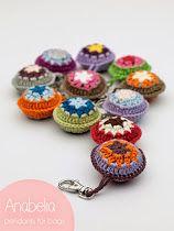 Anabelia craft design: Crochet snowflakes garland