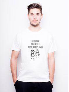 T-Shirt męski z nadrukiem - Tata - Udane Dzieci w Allbag-Allprints na DaWanda.com