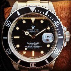 Great patina #rolex #rare #watches #watchesofinstagram #thewatchobserver #submariner #168000 #vintage #beautiful @rolex