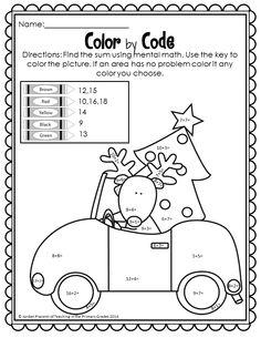Christmas Math and Literacy Printables- No Prep (Common
