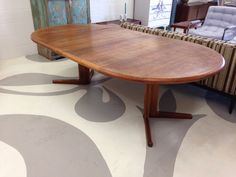 mid century modern dining table in teak with two by dsartereno, $420.00