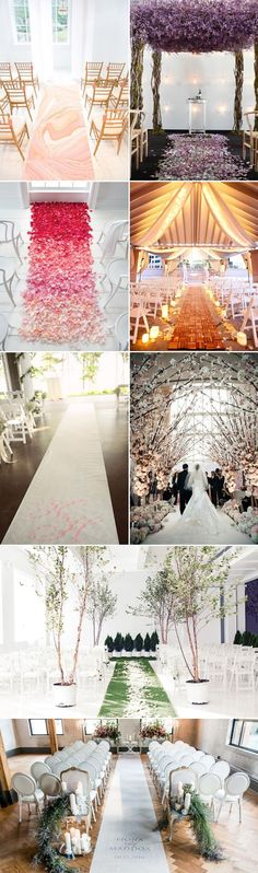 26 Creative Wedding Aisle Runners - elegant indoor wedding decor I purple Wedding Ceremony Ideas, Church Wedding Decorations Aisle, Wedding Church Aisle, Aisle Runner Wedding, Ceremony Decorations, Aisle Runners, Wedding Venues, Trendy Wedding, Diy Wedding