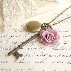 vintage key necklaces - Google Search