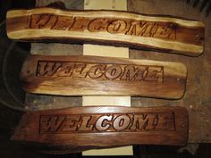 these signs I make with my cnc router and I also do special orders for customers which are personalized