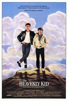 The Heavenly Kid is a 1985 comedy film directed by Cary Medoway and starring Lewis Smith, Jason Gedrick, Jane Kaczmarek, and Richard Mulligan. Teen Movies, Movie Tv, Cult Movies, Throwback Movies, Imdb Movies, Family Movies, Movie Props, Jason Gedrick, Movies Showing