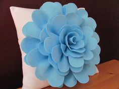 Decorative Pillow Pattern DAISY ROSE Felt Flower Throw Pillow Pattern with 2 Bonus Pillow Covers Pattern Tutorial PDF ePattern How To