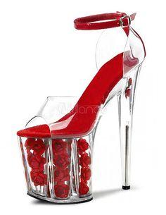 Rose platform heels Sandals Wedding, Wedding Pumps, Wedding Dress, Bridal  Sandals, Sexy 5505d61cfb
