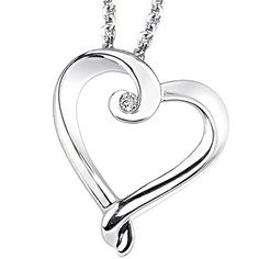 The winner will receive this heart-shaped pendant, and a Morgan Jewelers $100 gift card!