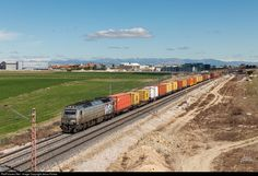 333.321 Acciona Rail Services Vossloh 333.3 at Madrid, Spain by Jesus Portas
