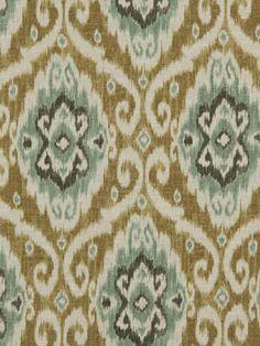 Ikat Fabric , Upholstery Fabric , Aqua Designer Fabric
