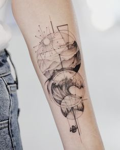 "mrtnv on Instagram: ""⊹ So much love to nature, mountains, oceans and road trippin'. Another first tattoo for life lover ⊹""..."