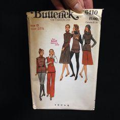 Uncut Butterick Pattern 6410 Sweater Jumper Tunic Skirt Pant Short Knickers VTG