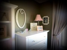 Pink and Grey Girls Nursery - Design Dazzle. My color of choice for my lil girls nursery.