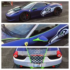 PHOTO: Ferrari Owner Really Loves the Seattle Seahawks | FatManWriting