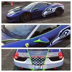 PHOTO: Ferrari Owner Really Loves the Seattle Seahawks | FatManWriting