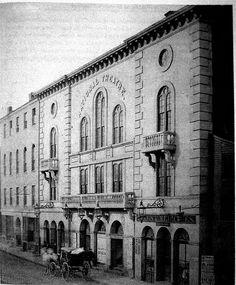 National Theater in Boston in 1860 #soNE #soMA #soMAhistory #scenesofnewengland #MA