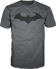 DC Comics Batman Fly Hush Bat Logo Men's T-Shirt - Grey / Black #Batman #GraphicTee