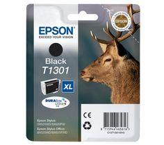 EPSON Stag T1301 XL Black Ink Cartridge  Couleur: Noir.Nombre de pages 945  Imprimantes compatibles - Epson Stylus Office BX525WD - Epson Stylus Office BX625FWD - Epson Stylus SX525WD - Epson Stylus SX620FW Type d'imprimante Jet d'encre