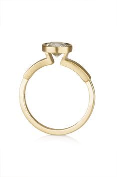 Audrey Ring / minimalist Engagement Ring by CONTOUR