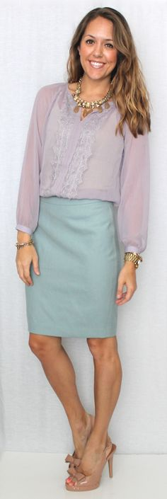 J's Everyday Fashion: Today's Everyday Fashion: Lilac Lace
