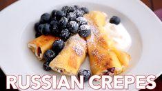 Breakfast: Russian Crepes with Cheese (Nalesniki) - Natasha's Kitchen