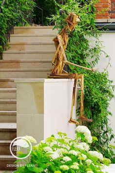 Schodisko a drevená socha Garden Art, Garden Stairs, Sculpture, Landscape Architecture, Instagram, Atelier, Garden Steps, Sculptures, Sculpting