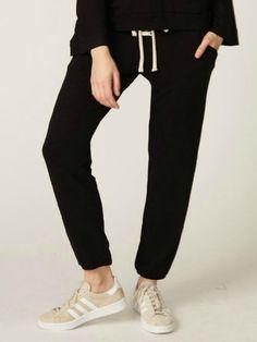 42c1e31fb2b7cb MONROW Supersoft Lace Up Sweats Black Joggers, Luxury Lifestyle,  Sweatpants, Rompers, Pants