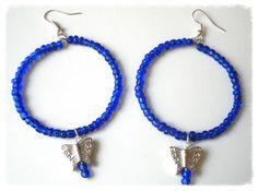 Handmade Jewelry Rg: Blue Butterfly Earrings