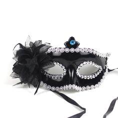 Black princess masquerade mask