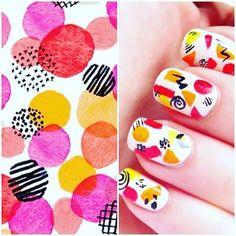My recent abstract nail art was inspired by @jessbruggink pattern ❤️ her work is awesome!