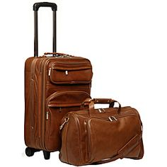 @Overstock - Make a fashion statement when you travel with this handsome and durable all-matching leather two-piece luggage set. This set includes one vertical pullman and one boarding tote bag.http://www.overstock.com/Luggage-Bags/Amerileather-Leather-2-piece-Carry-on-Luggage-Set/6085068/product.html?CID=214117 $199.99