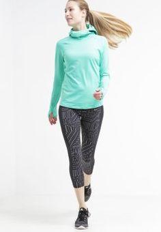 Nike Performance - ELEMENT - Topper langermet - emerald glow/reflective silver