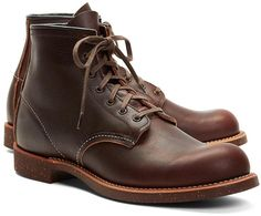 $300, Dark Brown Leather Boots: Red Wing Shoes Red Wing For Brooks Brothers 4522 Brown Pebble Leather Boots. Sold by Brooks Brothers. Click for more info: https://lookastic.com/men/shop_items/291/redirect