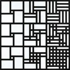 Jan Kubíček: Tři systémy adice v horizontálních řadách, Geometric Patterns, Geometric Art, Shape Patterns, Textures Patterns, Print Patterns, Geometric Designs, Elements Of Art, Design Elements, Stencil Art
