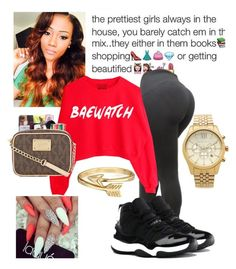"""""""Bae"""" by nyia101 ❤ liked on Polyvore featuring NIKE, Michael Kors, Bling Jewelry, women's clothing, women, female, woman, misses and juniors"""